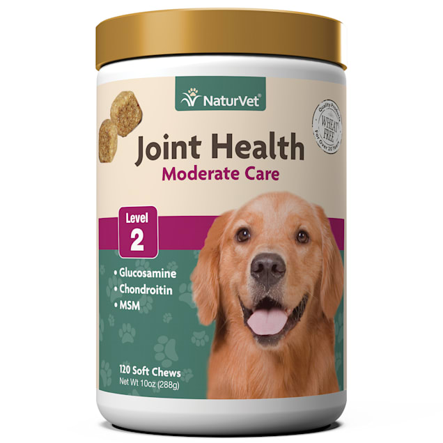 NaturVet Joint Health Moderate Care Dog Soft Chews, 10 oz., Count of 120 - Carousel image #1