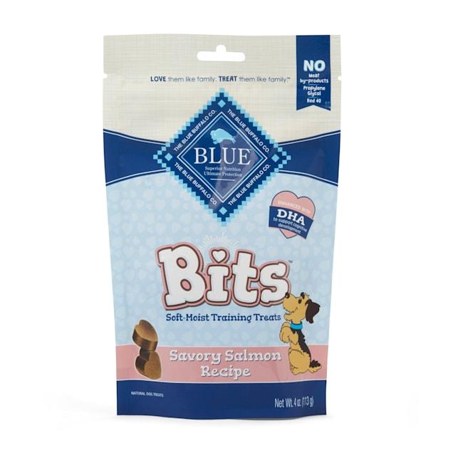 Blue Buffalo Blue Bits Savory Salmon Soft-Moist Training Dog Treats, 4 oz. - Carousel image #1