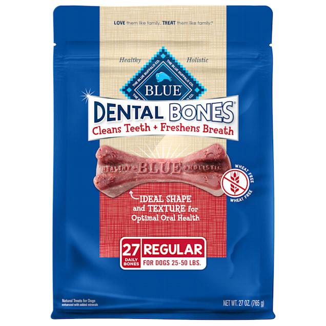 Blue Buffalo Blue Dental Bones Regular Size Dog Treats, 27 oz. - Carousel image #1