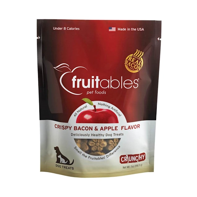 Fruitables Apple & Bacon Natural Dog Biscuits, 7 oz. - Carousel image #1