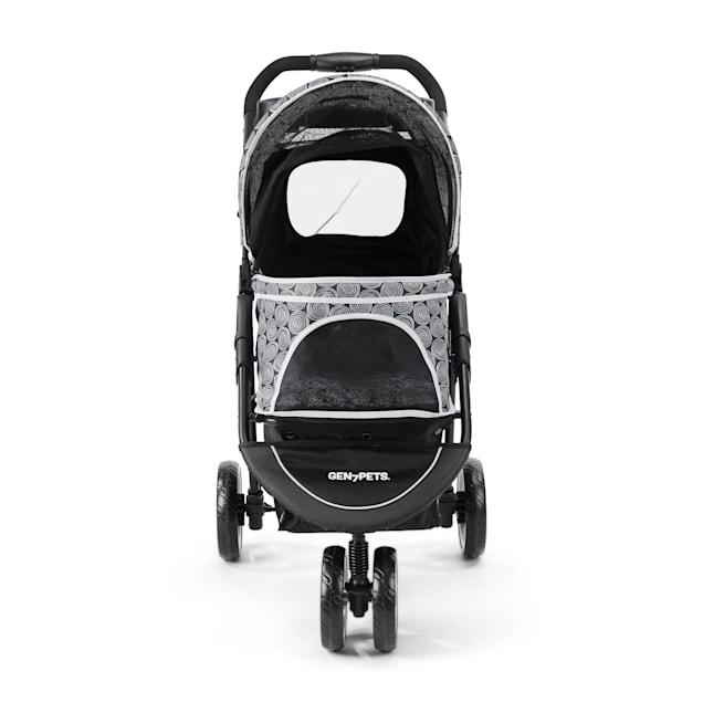 "Gen7Pets Promenade Pet Stroller in White/Black, 37"" L X 20"" W X 40"" H - Carousel image #1"