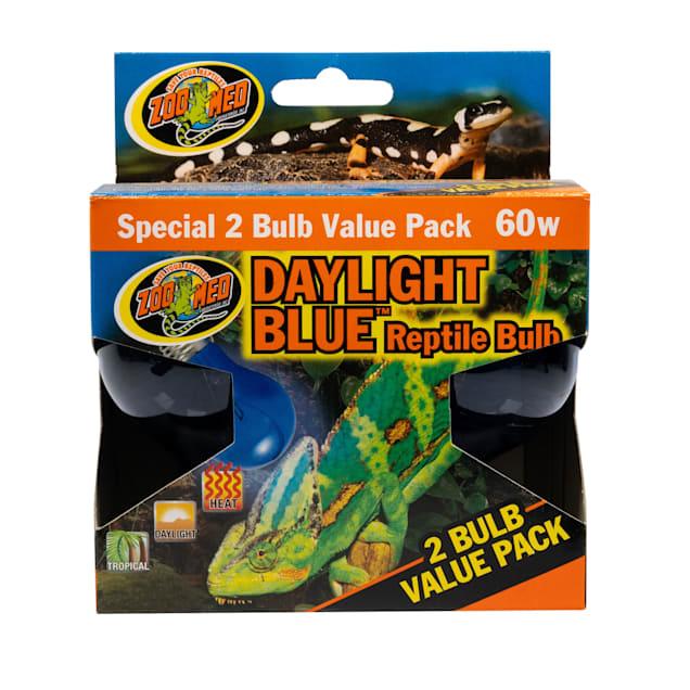 Zoo Med Daylight Blue Reptile Bulb, 60 Watt - 2 Pack - Carousel image #1