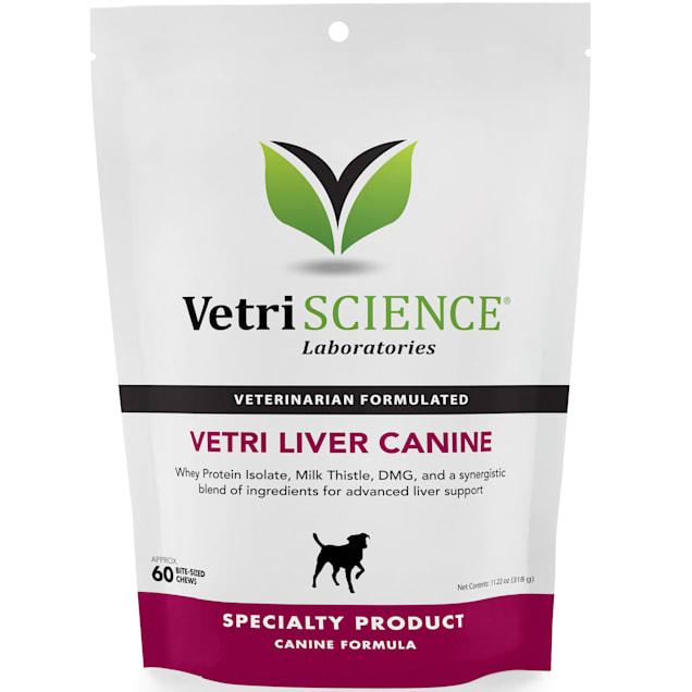 VetriScience Laboratories Vetri-Liver Canine Bite-Sized Dog Chews, 60 count. - Carousel image #1
