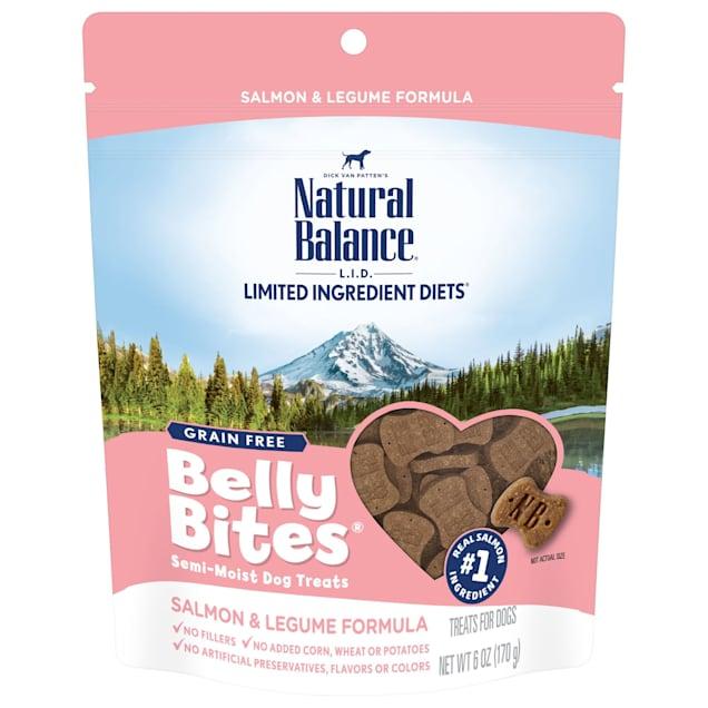 Natural Balance Belly Bites Grain Free Semi-Moist Salmon & Legume Formula Dog Treats, 6 oz. - Carousel image #1