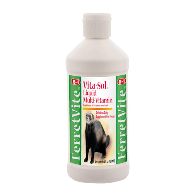 8 in 1 FerretVite Vita-Sol Liquid Multi-Vitamin for Ferrets, 4 oz. - Carousel image #1