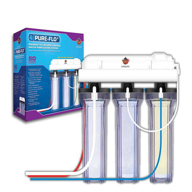 Coralife Pure Flo II Reverse Osmosis 3 Canister System, 50 GPD - Carousel image #1