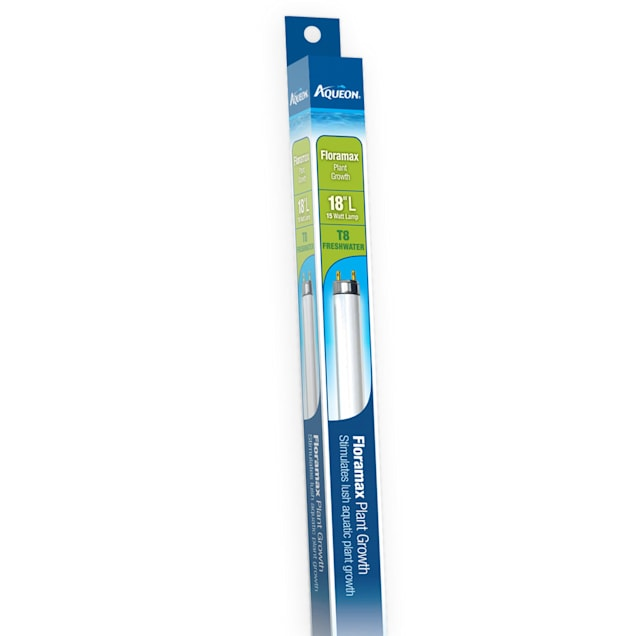"Aqueon Floramax T8 Fluorescent Bulb, 18"" Length, 15 Watts - Carousel image #1"