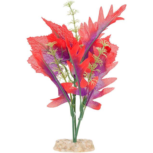 """Imagitarium Blossoming Silk Red Aquarium Plant, 6"""" L X 2"""" W - Carousel image #1"""