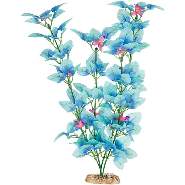 """Imagitarium Fiesta Silk Blue Aquarium Plant, 12"""" L X 4"""" W - Carousel image #1"""