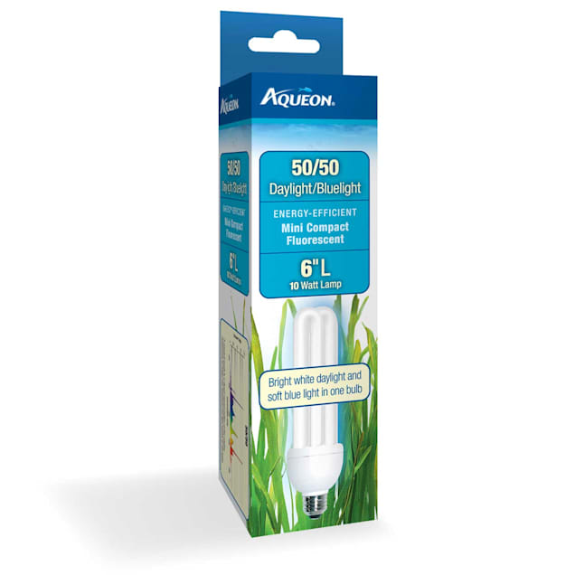 "Aqueon 50/50 10 Watts Mini Compact Fluorescent Bulb, 6"" Length - Carousel image #1"