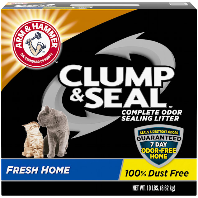 Arm & Hammer Clump & Seal Complete Odor Sealing Cat Litter, 19 lbs. - Carousel image #1
