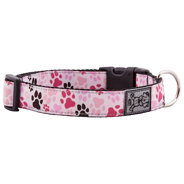 "RC Pet Products Pitter Patter Pink Dog Collar, 15""-25"" - Carousel image #1"