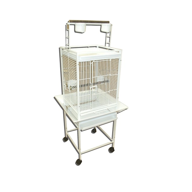 Play Top Wrought Iron Parrot Cage - Carousel image #1