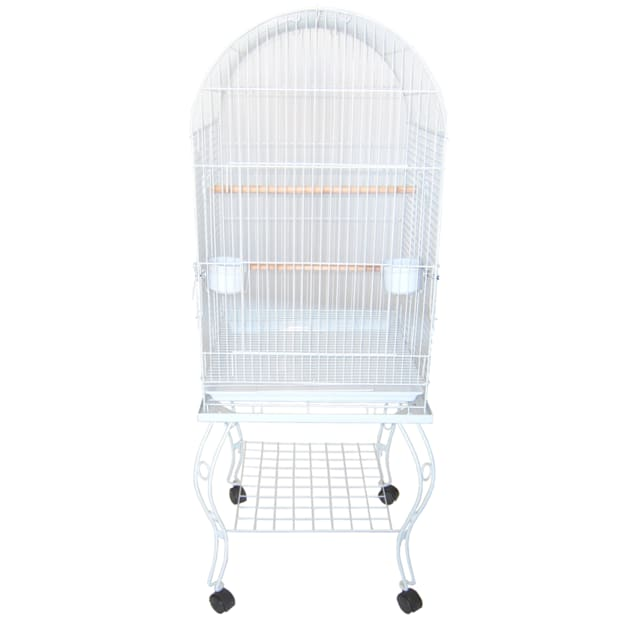 "YML Dometop White Bird Cage, 20"" L X 20"" W X 58.5"" H - Carousel image #1"