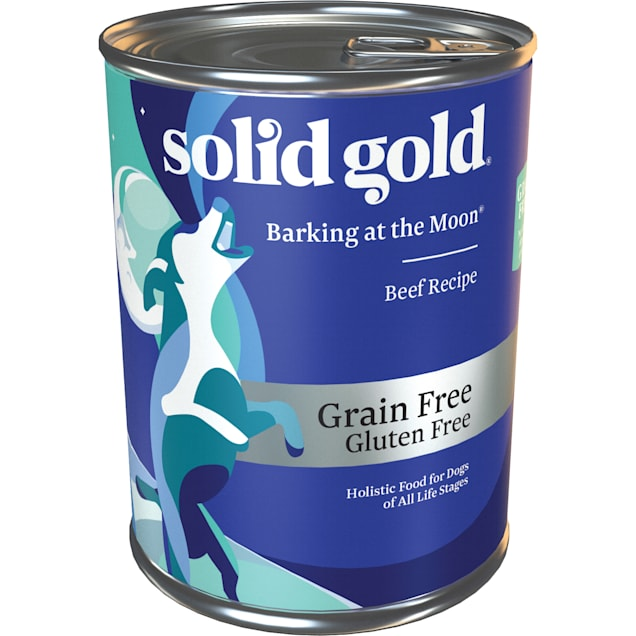 Solid Gold Barking at the Moon 95% Beef Grain Free Canned Dog Food, 13.2 oz., Case of 6 - Carousel image #1