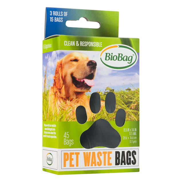 BioBag Pet Waste Bags on a Roll, Pack of 3 rolls - 15 bags per roll - Carousel image #1