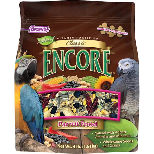 Brown's Encore Classic Parrot Food, 4 lbs. - Carousel image #1