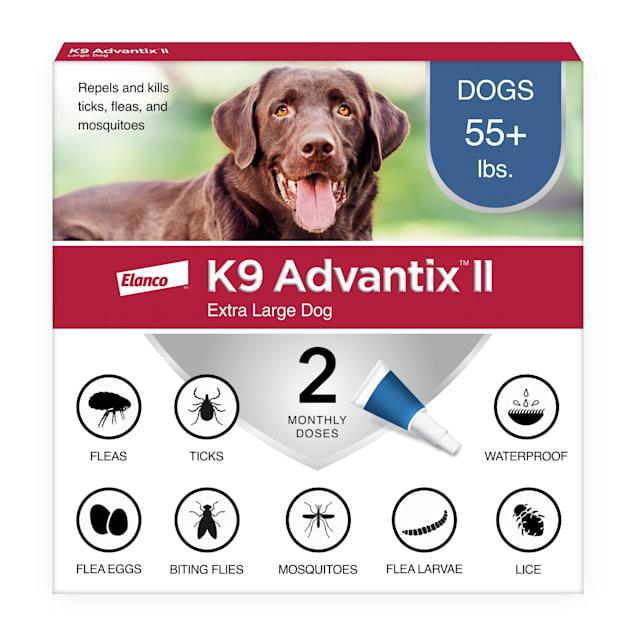 K9 Advantix II Topical Extra Large Dog Flea & Tick Treatment, Pack of 2 - Carousel image #1
