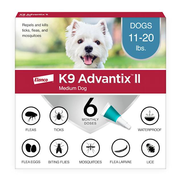 K9 Advantix II Topical Medium Dog Flea & Tick Treatment, Pack of 6 - Carousel image #1