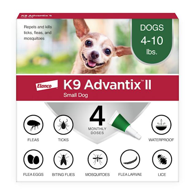 K9 Advantix II Topical Small Dog Flea & Tick Treatment, Pack of 4 - Carousel image #1