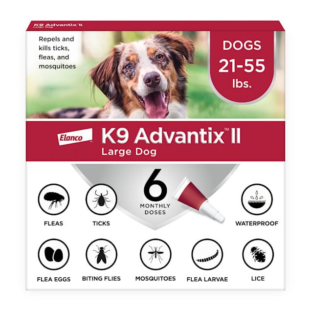 K9 Advantix II Topical Large Dog Flea & Tick Treatment, Pack of 6 - Carousel image #1