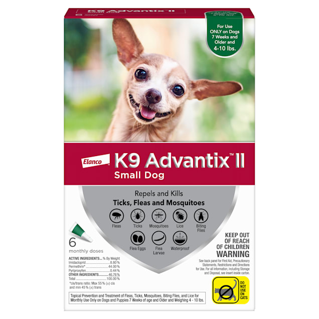 K9 Advantix II Topical Small Dog Flea & Tick Treatment, Pack of 6 - Carousel image #1