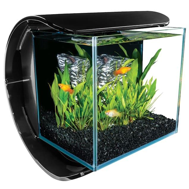 Marineland 3 Gallon Silhouette Glass LED Aquarium Kit - Carousel image #1