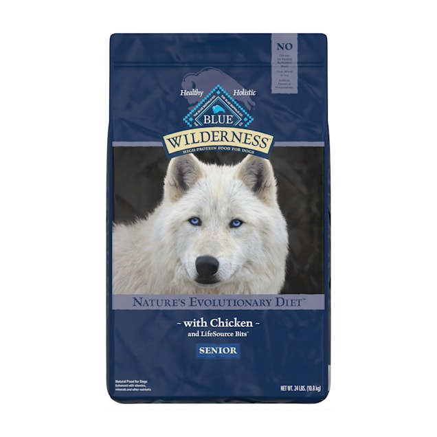 Blue Buffalo Wilderness Natural Senior High Protein Grain Free Chicken Dry Dog Food, 24 lbs. - Carousel image #1