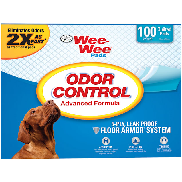 Wee-Wee Odor Control Puppy Pads, Pack of 100 pads - Carousel image #1