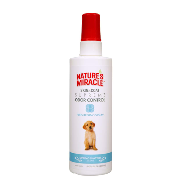 Nature's Miracle Supreme Odor Control Dog Freshening Spray, Spring Waters Scent, 8 fl. oz. - Carousel image #1
