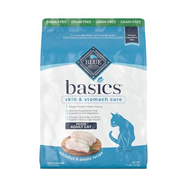 Blue Buffalo Blue Basics Adult Grain-Free Fish and Potato Recipe Dry Cat Food, 11 lbs. - Carousel image #1