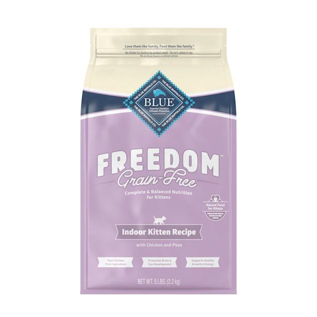 Blue Buffalo Blue Freedom Grain-Free Indoor Kitten Chicken Recipe Dry Cat Food, 5 lbs. - Carousel image #1