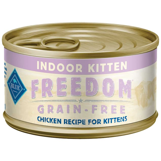 Blue Buffalo Blue Freedom Grain-Free Indoor Kitten Chicken Recipe Wet Cat Food, 3 oz., Case of 24 - Carousel image #1