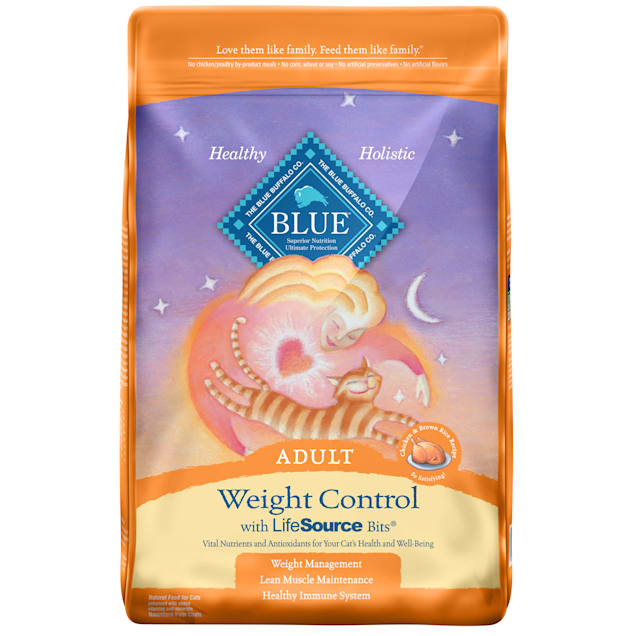 Blue Buffalo Weight Control Natural Adult Chicken & Brown Rice Dry Cat Food, 15 lbs. - Carousel image #1