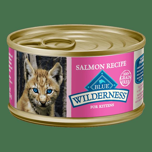 Blue Buffalo Blue Wilderness Kitten Salmon Recipe Wet Cat Food, 3 oz., Case of 24 - Carousel image #1