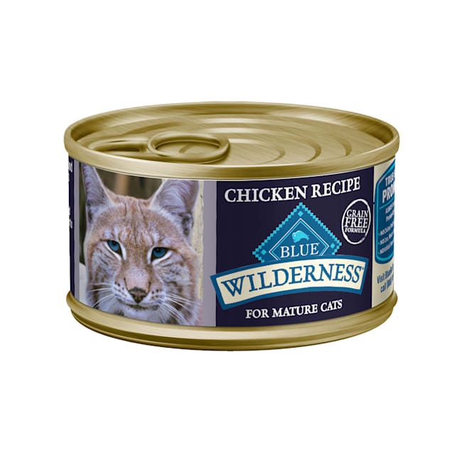 Blue Buffalo Blue Wilderness Mature Chicken Recipe Wet Cat ...
