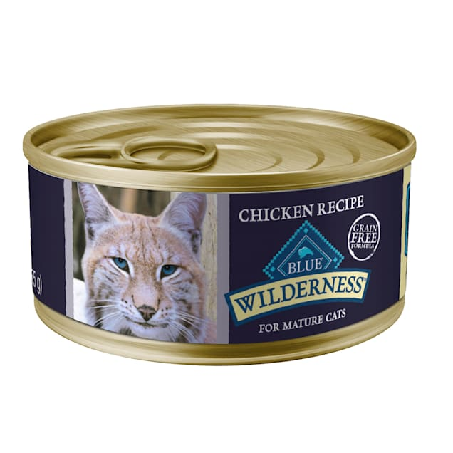 Blue Buffalo Blue Wilderness Mature Chicken Recipe Wet Cat Food, 5.5 oz., Case of 24 - Carousel image #1