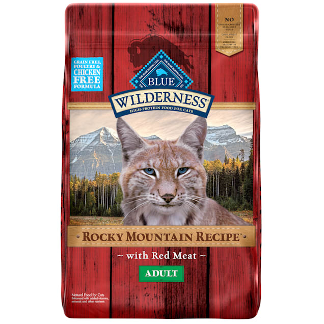 Blue Buffalo Blue Wilderness Rocky Mountain Recipe Adult Red Meat Dry Cat Food, 10 lbs. - Carousel image #1