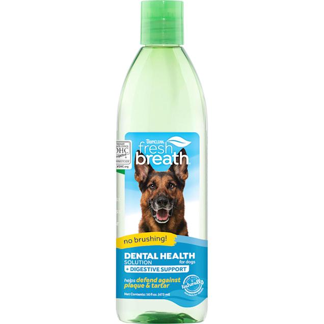 TropiClean Fresh Breath Dental Health Solution Plus Digestive Support for Dogs, 16 fl. oz. - Carousel image #1