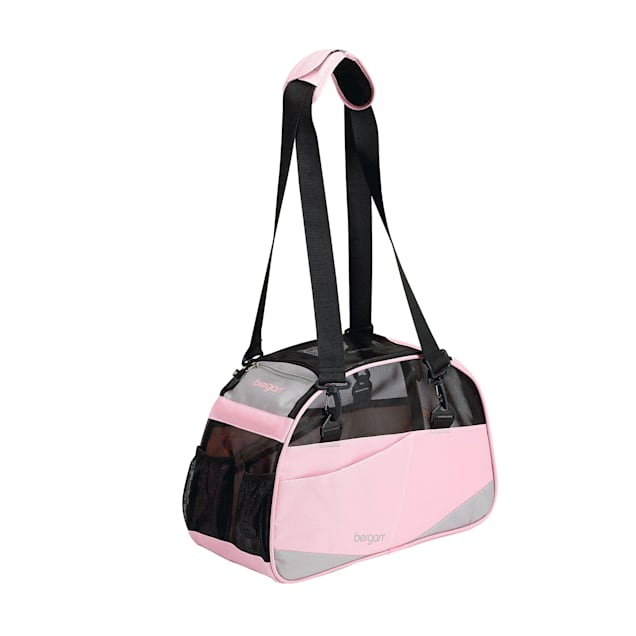 Bergan Voyager Small Pet Carrier in Pink & Gray, Small - Carousel image #1