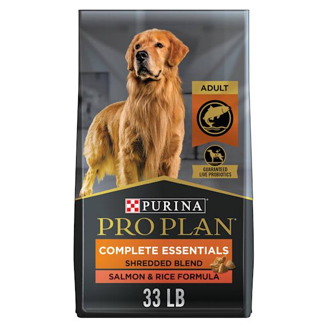 Purina Pro Plan With Probiotics Shredded Blend Salmon & Rice Dry Dog Food, 33 lbs. - Carousel image #1