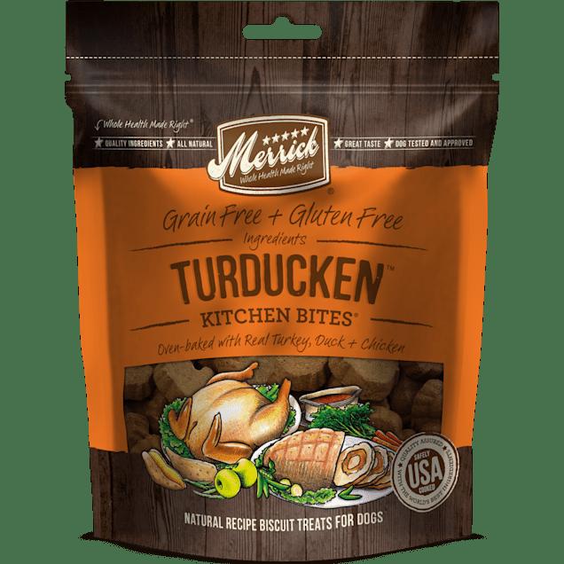 Merrick Grain Free Kitchen Bites Turducken Dog Treats, 9 oz. - Carousel image #1