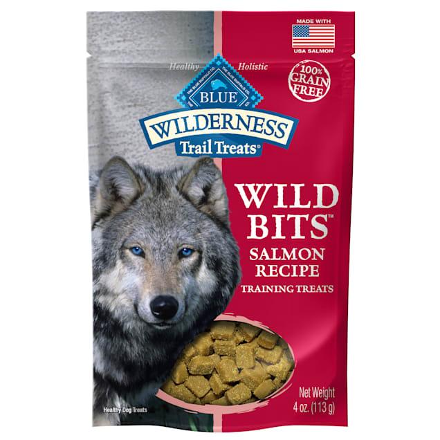 Blue Buffalo Blue Wilderness Trail Treats Salmon Wild Bits Dog Treats, 4 oz. - Carousel image #1