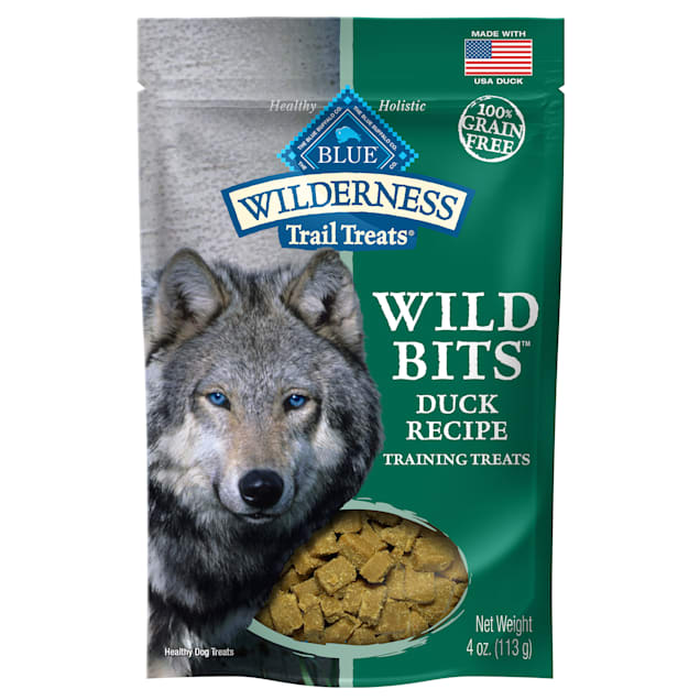 Blue Buffalo Blue Wilderness Trail Treats Duck Wild Bits Dog Treats, 4 oz. - Carousel image #1