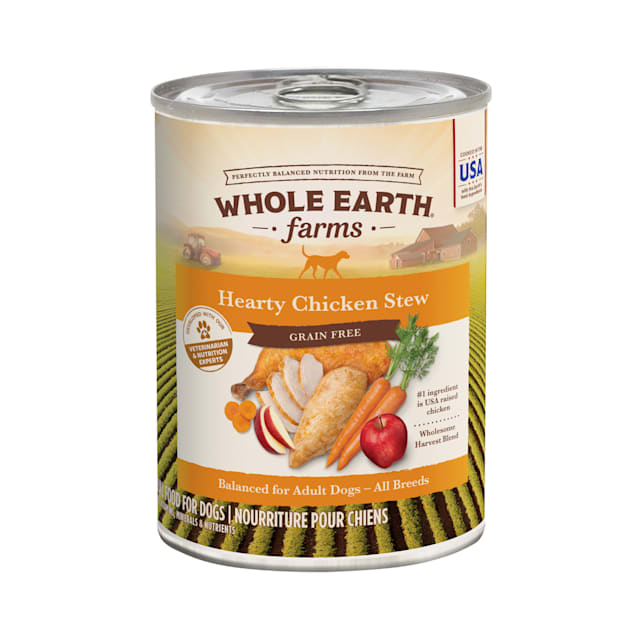 Whole Earth Farms Grain Free Hearty Chicken Stew Canned Dog Food, 12.7 oz. - Carousel image #1