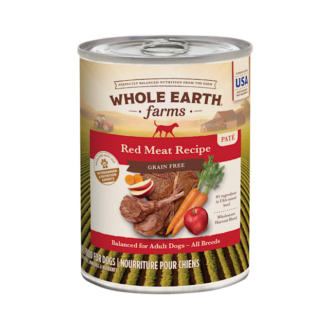 Whole Earth Farms Grain Free Canned Dog Food, Red Meat Recipe, 12.7 oz., Case of 12 - Carousel image #1