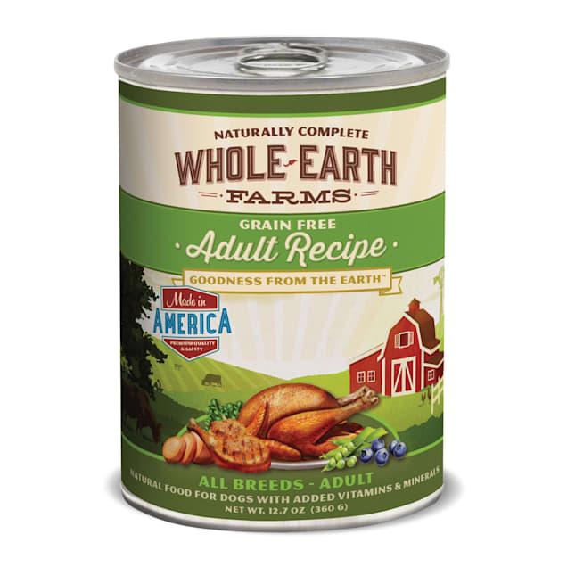 Whole Earth Farms Grain Free Canned Adult Dog Food, 12.7 oz., Case of 12 - Carousel image #1