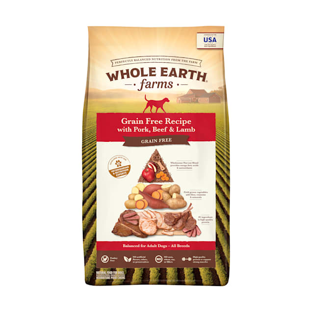 Whole Earth Farms Grain Free Recipe with Pork, Beef & Lamb Dry Dog Food, 25 lbs. - Carousel image #1