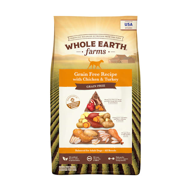Whole Earth Farms Grain Free Chicken and Turkey Recipe Dry Dog Food, 25 lbs. - Carousel image #1