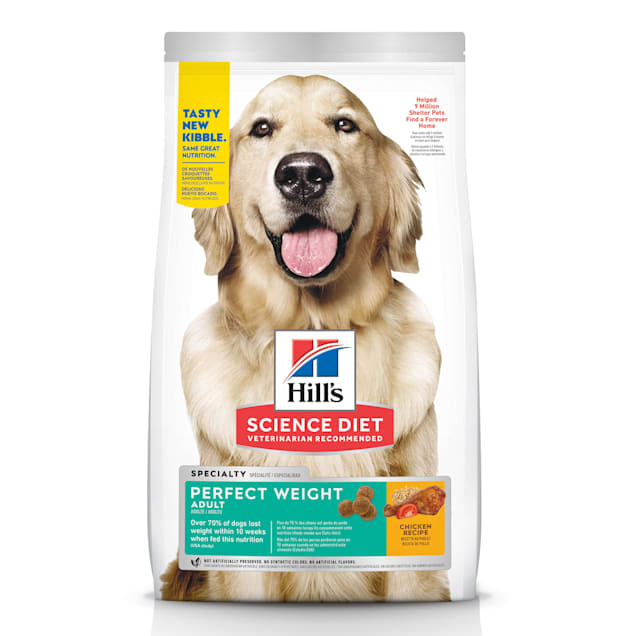 Hill's Science Diet Adult Perfect Weight Chicken Recipe Dry Dog Food, 4 lbs., Bag - Carousel image #1